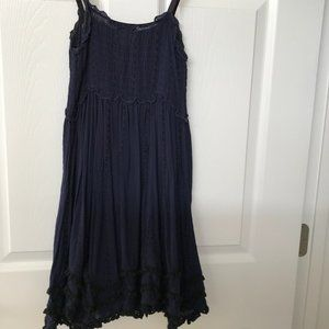 Free People Strapless Tunic in Dark Blue